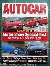 Autocar 26/10/1994 Handling day '94 EB110 Griffith Viper NSX Elan DB7 993 968 CS
