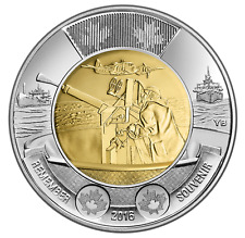 2016 CANADA 75th ANNIVERSARY - BATTLE OF THE ATLANTIC $2 TOONIE CANADIAN COIN