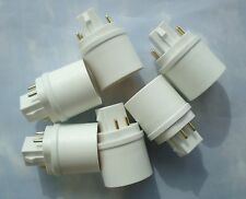 SIX PACK Adapters to Use E27/E26 Light Bulbs in a GX24- 4 PIN fixture base