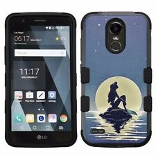 For LG Stylo 3 LS777 Hard Impact Armor Hybrid Case Mermaid Ariel #Moonlight
