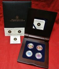 2011-2012 Canada $5 FULL MOON .925 SILVER & NIOBIUM Coin Series - 4 Coins w/Case
