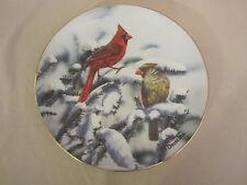 Cardinal collector plate O'Driscoll Red Cardinals of Winter Bird Songbird