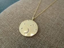 Gorjana Luna Coin Pendant Necklace chain gold plated
