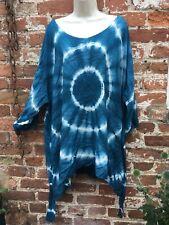 Ladies Gringo Tie Dye hippie/boho/festival loose top free/plus size