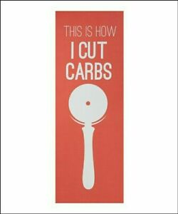 "Well&Fit EXERCISE YOGA MAT ""This is how I cut carbs"" FUNNY Orange 172x61x0.4cm"