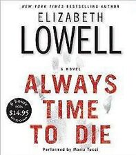 BOOK/AUDIOBOOK CD Elizabeth Lowell Fiction Thriller ALWAYS TIME TO DIE