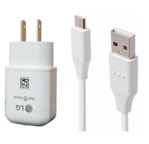 LG Original Wall Adapter, LG USB-C,QC3.0 Car For LG V20/V30/V40/V50/V60 ThinQ
