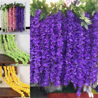 10Pcs Artificial Flower Vine Rattan Strip Wisteria for Wedding Home Party Decor