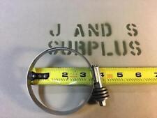 Lot of 2 IDEAL SS Constant Torque Hose Clamp 2 1/4 3 1/4 size 44 Ideal Flex Gear