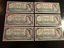 1967 CANADIAN 1 DOLLAR BILL UNCIRCULATED 1867 1967