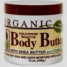 Hollywood Beauty orgánica cuerpo mantequilla con manteca de karité y la vitamina E 340g