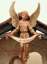 "Fontanini Depose Italy Blue 7.5"" Gloria Angel 1983 Nativity Village Fig 52817 Gc"