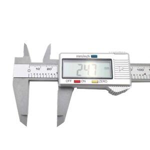 150MM 6inch LCD Digital Electronic Vernier Caliper Gauge Micrometer Ruler Tool W