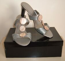 NEWPRINCIPLES LEATHER MULES HIGH HEEL SHOES Size UK 7