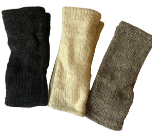 Woolen Handmade Winter Gloves Hand Warmers Arm Warmers Fleece Lined Knit Nepal
