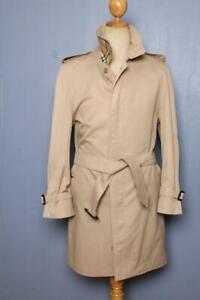 Mens BURBERRY Bespoke Short TRENCH Coat Mac Beige UK/USA 36