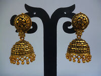 Indian Earrings Antique Gold Plated Jhumka Jhumki  Set 5CM Long Free Shipping