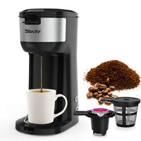 Sboly Single Serve Coffee Maker K Cup & Ground Coffee Machine Compact Design