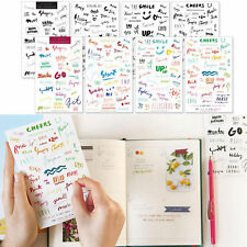 DIY Sheets PVC Planner Labels Journal Diary inserts Word Stickers Alphabet Craft
