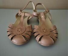 Women's Easy Spirit E360 Leather Nude ~ Tan Shoes, Sandals, Size 10