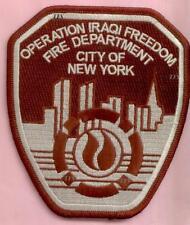 New York City Fire Dept Operation Iraqi Freedom Patch