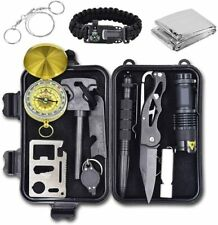 Emergency Survival Kit, 12 in 1 Outdoor Camping Gear Lifesaving Tools,