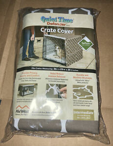 Interm Quiet Time Defender Series Crate Cover Brown Teflon Intermediate 36x23x25