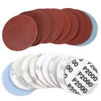 100Pcs 3 Inch 75mm Sandpaper Sander Disc Mix Sanding Polishing Pad 80-3000 grits
