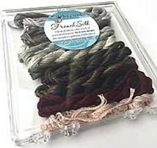 Kreinik Neutral French Silk Set - 14 2.5m Skeins 100% Silk Floss New