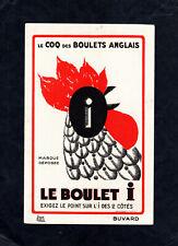 Buvard : le Boulet i , le coq des boulets anglais ( charbon )