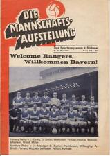 Programm   1966-1967   Bayern München v Glasgow Rangers   Cup Winners Cup Final