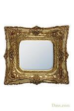 DUSX Rosetti Baroque Gold Gilt Leaf Double Framed Wall Bedroom Mirror 90 x 100cm