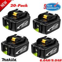 20XFor Makita 18V 6.0Ah Battery LXT400 BL1860B BL1830B BL1850B Lithium LED Tools