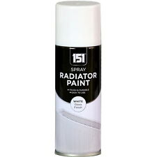 x 16 Radiateur émail blanc brillant Peinture Spray Aerosol 200ml DIY métal bois