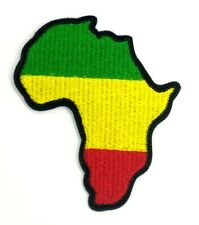 """Green Yellow Red Africa Map Embroidered Iron On Patch 1535"""""""