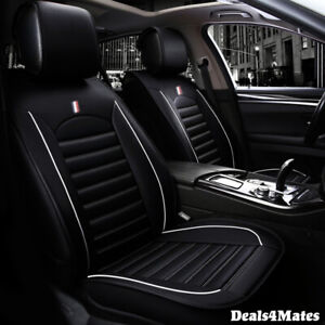 For Toyota Black Black Comfortable Leatherette Luxury Soft Front Car Seat Covers