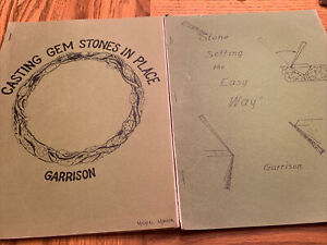 Casting Gem Stones In place & Stone Setting Booklets& Wax Models By Garrison