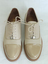 Russell & Bromley ABACROMBIE Blush Patent Leather Lace-Up Oxford Shoes 37.5/4.5