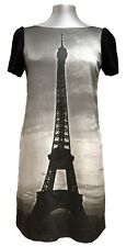 MOSCHINO CHEAP AND CHIC 'EIFFEL TOWER' GRAY DRESS, 40, $1100