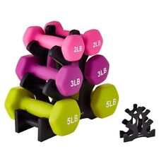US Hand Weight Dumbbell Storage Holder Tree 3 Tier Rack Weights Stand Organizer