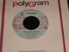 "ARGENT<>HOLD YOUR HEAD UP<>45 Rpm,7"" Vinyl ~Canada Pressing~DISQUES D'OR 15-2332"