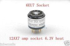 1pc*Gold 6EU7(Adapter top) instead 12AX7 ECC83 tube converter adapter 6.3V