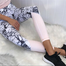 Sports Mesh Floral Splicing Womens Pants Gym Yoga Fitness Slim Leggings Trouser