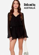 womens black playsuit size 10 au new