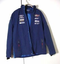 Blue Ford GT Eco Boost Racing Hoodie Quilted Jacket Sz 2XL
