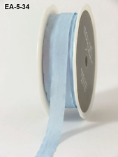 1/2 Inch Solid Wrinkled Ribbon - May Arts - EA34 -Blue - 5 yds.