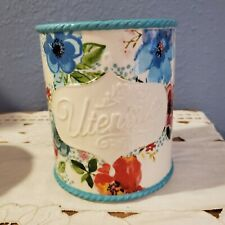 The Pioneer Woman Ceramic Utensil Holder Melody Floral Flowers
