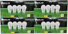 16 Bulbs LED 15W Soft White 2700K A19 100W Replacement Maxlite Dimmable Pack