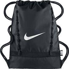 Nike Brasilia 7 Gym Sack DRAWSTRING BackPack, BA5079 010 Black/White 977 CU IN