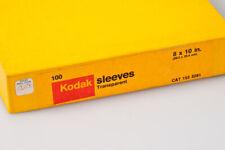 Kodak 8x10 Transparent Sleeves Box of 100 New Old Stock